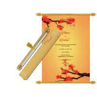 Scroll Wedding Invitations - SC-6076