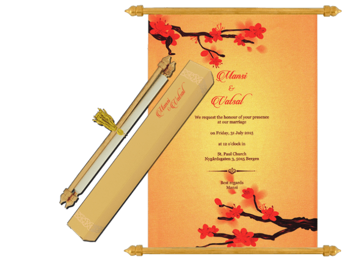 test Scroll Wedding Invitations - SC-6076