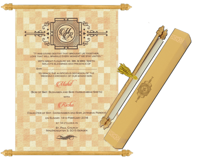 buy scroll wedding invitation cards