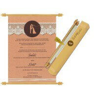 Scroll Wedding Invitations - SC-6078