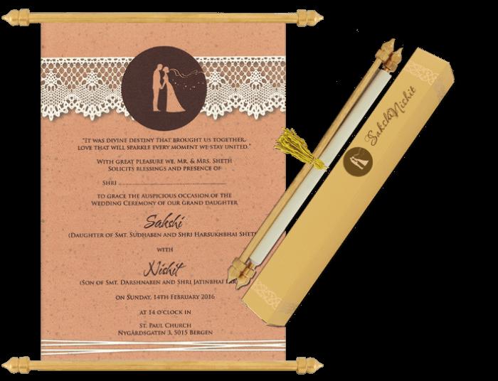 test Scroll Wedding Invitations - SC-6078
