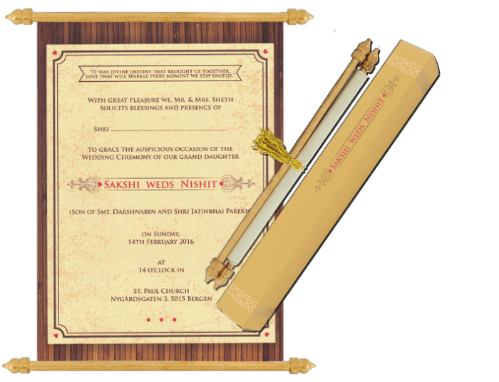 test Scroll Wedding Invitations - SC-6080