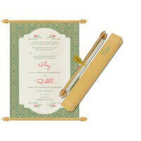 Scroll Wedding Invitations - SC-6081