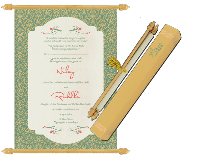 test Scroll Wedding Invitations - SC-6081