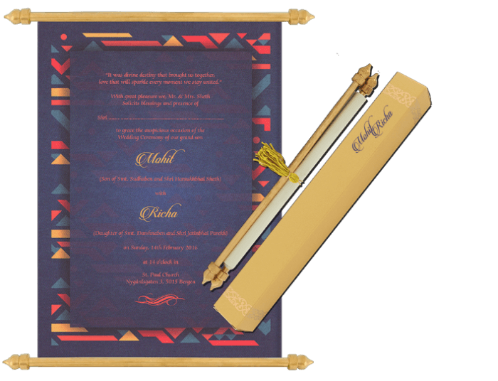test Scroll Wedding Invitations - SC-6083