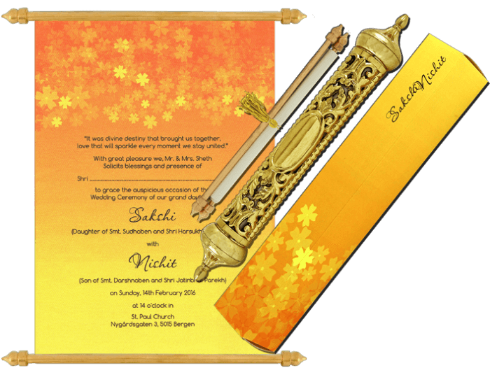 Royal Scroll Invitations - SC-6030 - 2