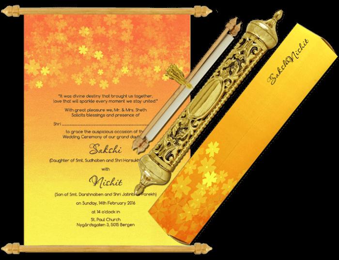 Royal Scroll Invitations - SC-6030