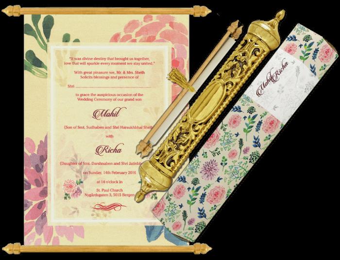 test Royal Scroll Invitations - SC-6031