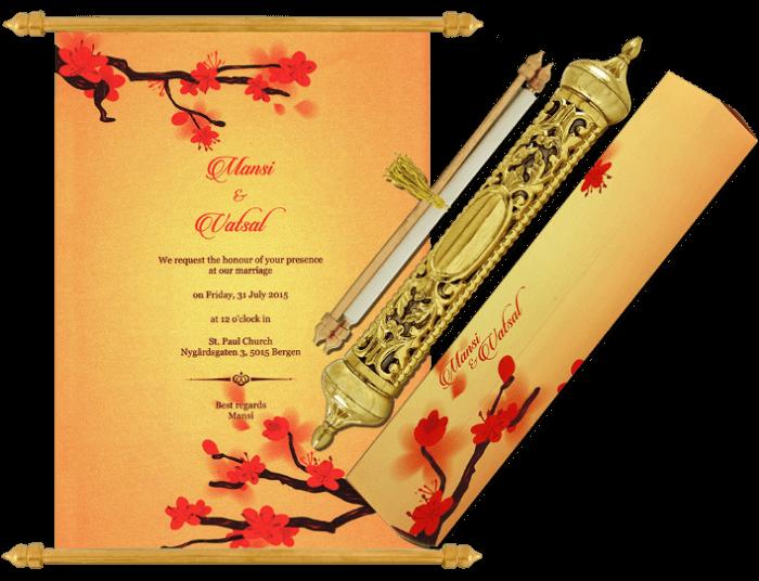 test Royal Scroll Invitations - SC-6032