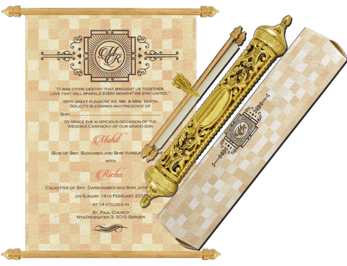test Royal Scroll Invitations - SC-6033