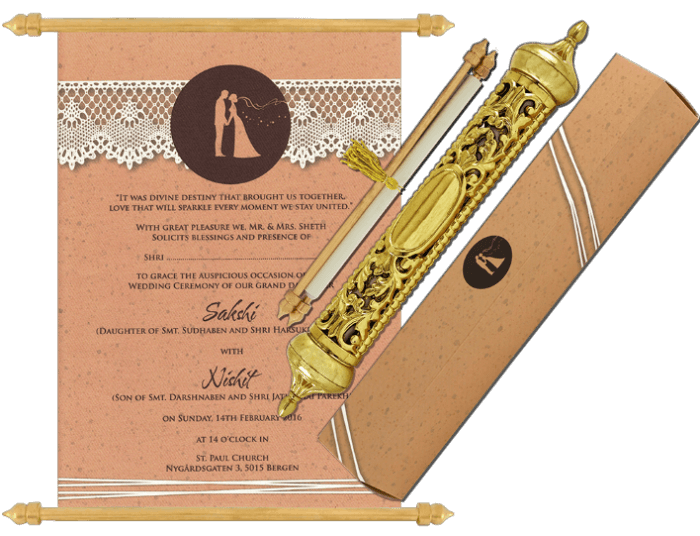test Royal Scroll Invitations - SC-6034