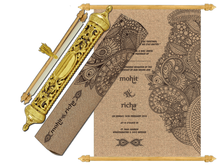Royal Scroll Invitations - SC-6035 - 2