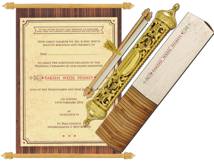 test Royal Scroll Invitations - SC-6036