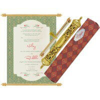 Royal Scroll Invitations - SC-6037