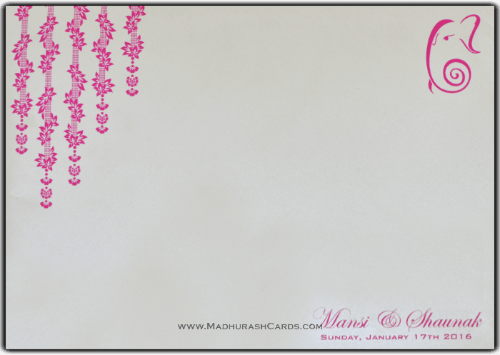 Custom Wedding Cards - CZC-9078 - 5