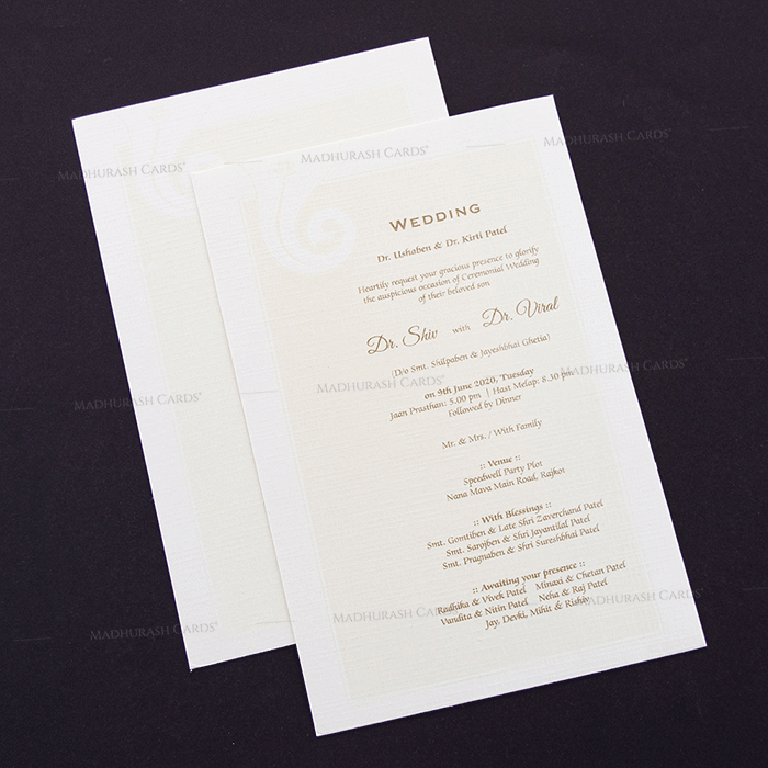 Hindu Wedding Cards - HWC-15206 - 4