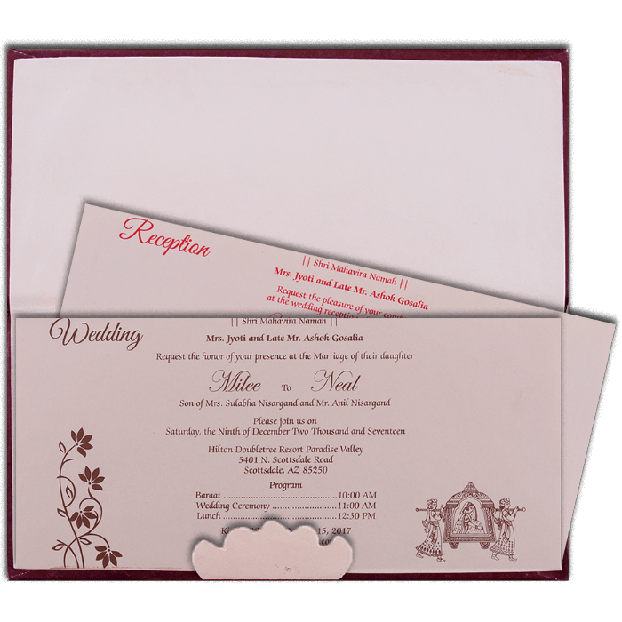Hard Bound Wedding Cards - HBC-14108 - 3