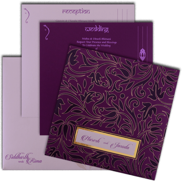 Hindu Wedding Cards - HWC-16110 - 5