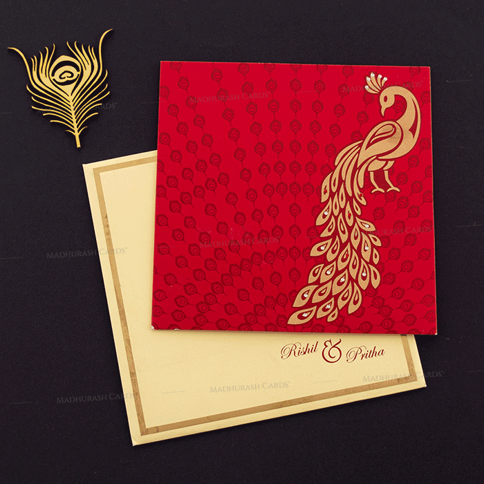 Hindu Wedding Cards - HWC-16151 - 2