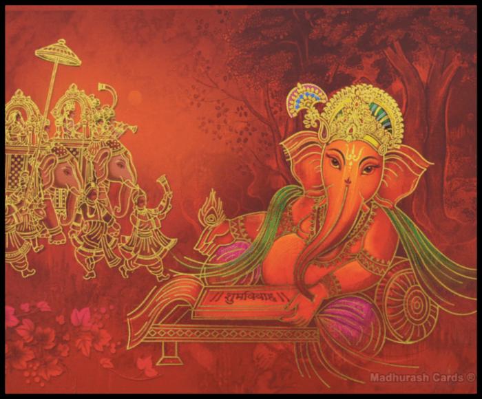 Hindu Wedding Cards - HWC-16078