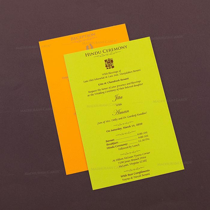 Hindu Wedding Cards - HWC-16109 - 4