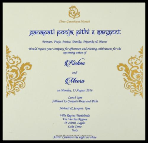 Customized Wedding Invitations - CZC-8824R - 3