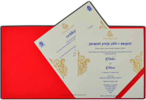 Customized Wedding Invitations - CZC-8824R - 4