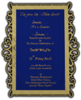 Custom Wedding Cards - CZC-9736