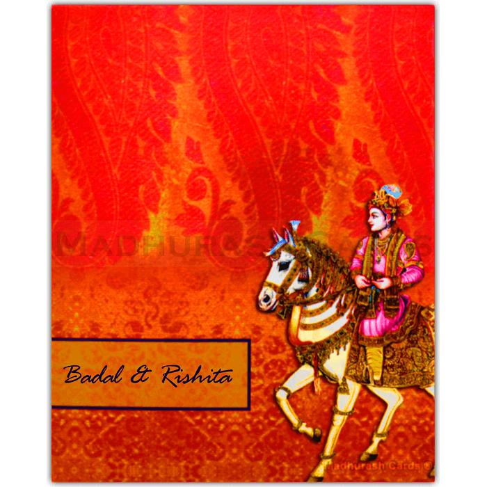 test Hard Bound Wedding Cards - HBC-16024