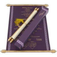 Scroll Wedding Invitations - SC-6052