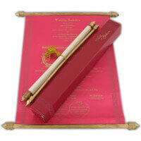 Scroll Wedding Invitations - SC-6053