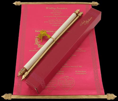 test Scroll Wedding Invitations - SC-6053