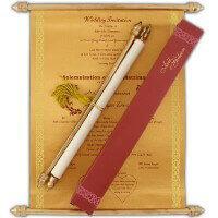 Scroll Wedding Invitations - SC-6055