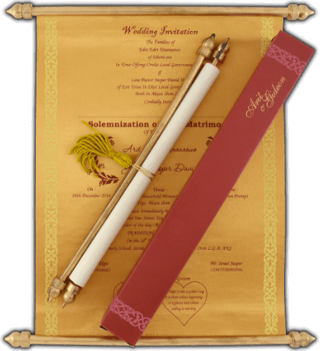 test Scroll Wedding Invitations - SC-6055