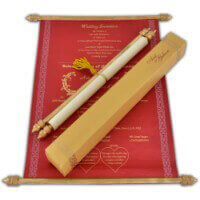 Scroll Wedding Invitations - SC-6057