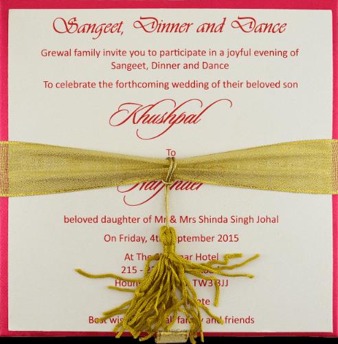 Luxury Wedding Cards - LWC-108P - 4