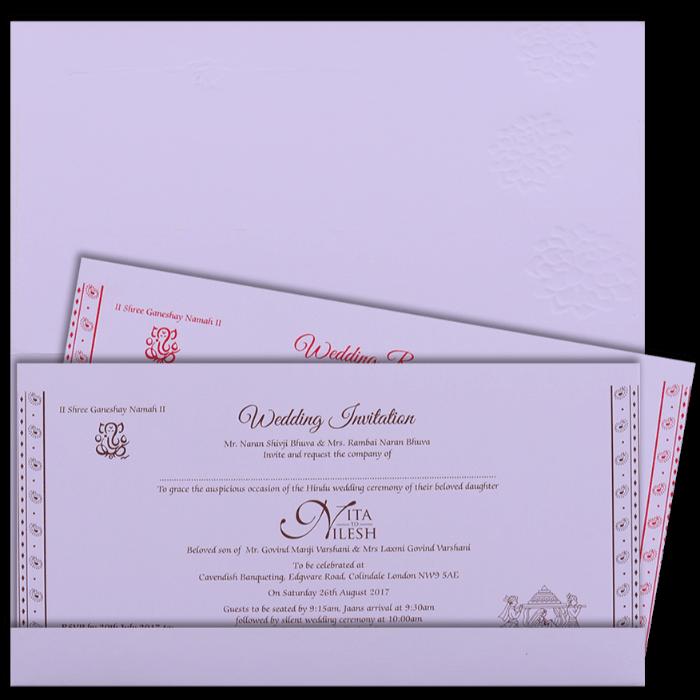 Hindu Wedding Cards - HWC-16183 - 3