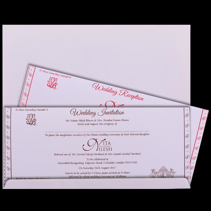 Hindu Wedding Cards - HWC-16306 - 3