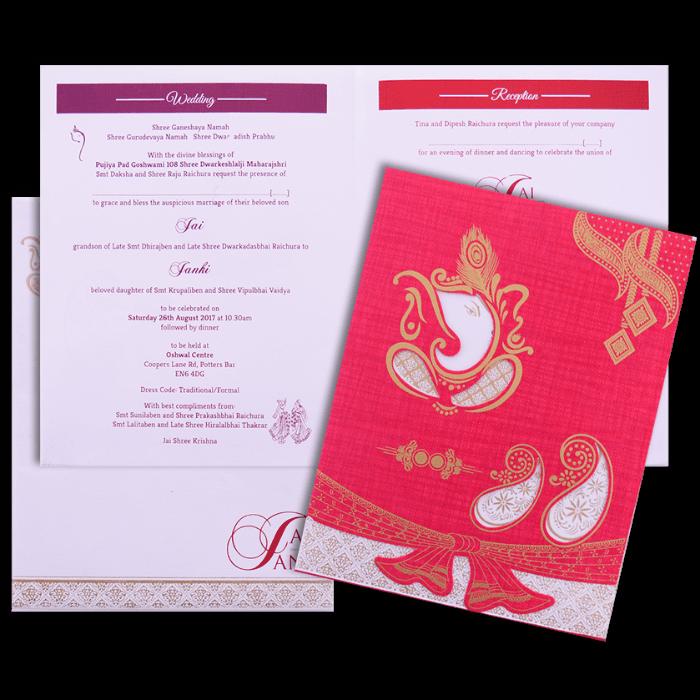 Hindu Wedding Cards - HWC-16237 - 5