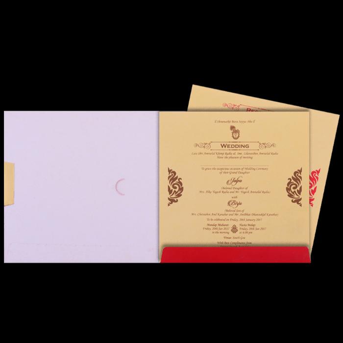 Hindu Wedding Cards - HWC-16156 - 3
