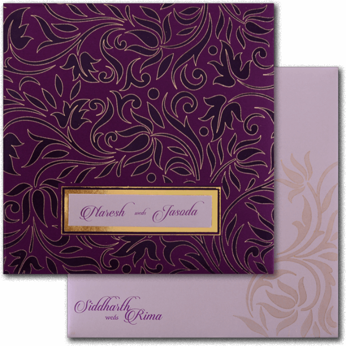 Muslim Wedding Cards - MWC-16110