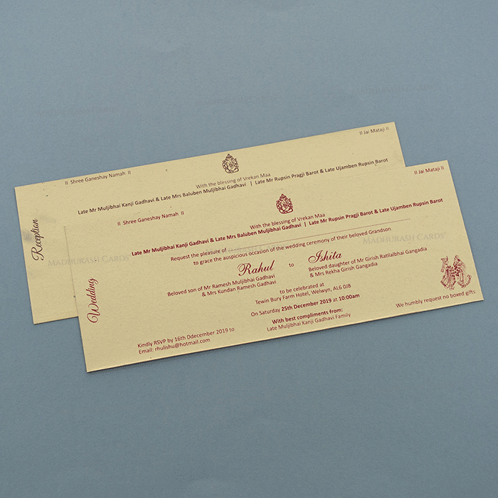 Hindu Wedding Cards - HWC-7167 - 4