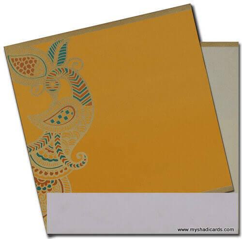 Hindu Wedding Cards - HWC-7525 - 3