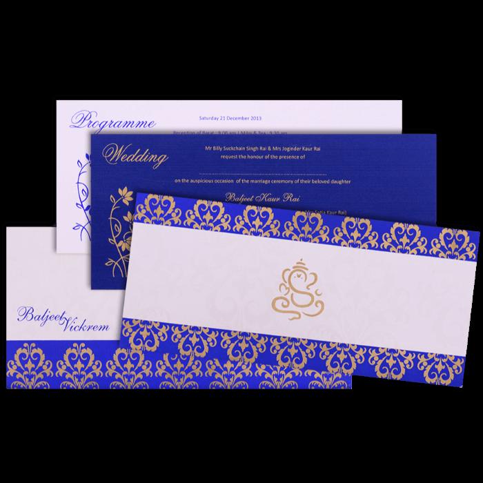 Custom Wedding Cards - CZC-9061B - 4
