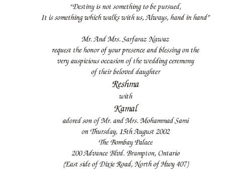 Wording templates for hindu muslim sikh christian wedding cards muslim wedding 2 stopboris Choice Image