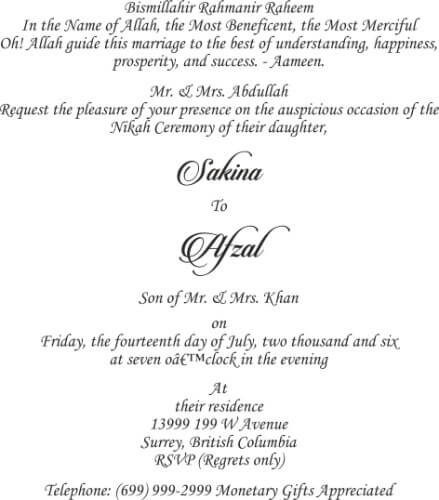 Wording Templates for Hindu, Muslim, Sikh & Christian Wedding Cards