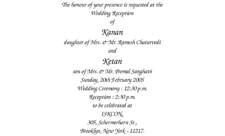 Wording templates for hindu muslim sikh christian wedding cards reception 4 filmwisefo Images
